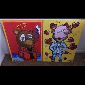 Kanye Yeezy Portrait art